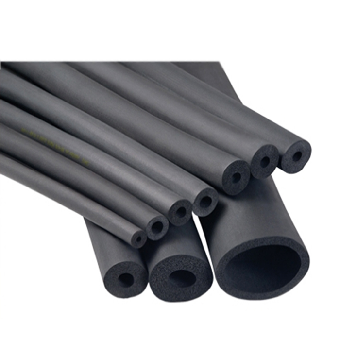 Air conditioner heat insulation pipe safty rubber foam for Insulation for copper heating pipes
